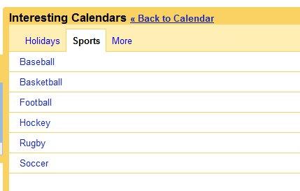 Suivre les calendriers sportifs depuis Google Calendar
