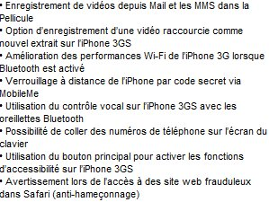 Firmware 3.1 iPhone disponible