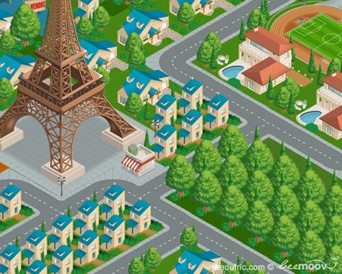 Rue du Fric = Monopoly + SimCity