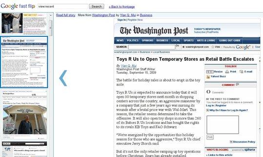 Google Fast Flip - Google met la presse écrite en ligne