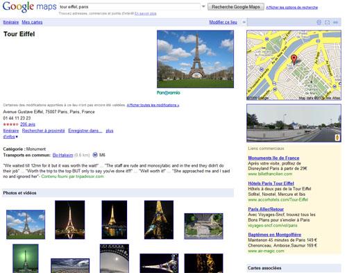 Des pages dédiées à chaque lieu sur Google Maps