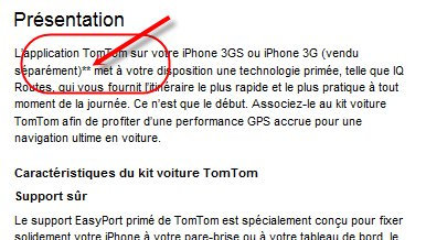 Kit voiture TomTom iPhone - Toujours trop cher