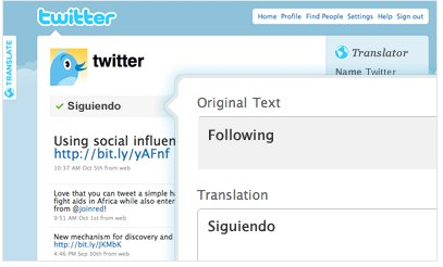 Twitter bientôt en français