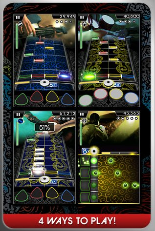 Rock Band pour iPhone sur l'App Store US