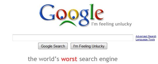 Un moteur Google ... un peu particulier
