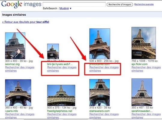 Image similaire dans Google images