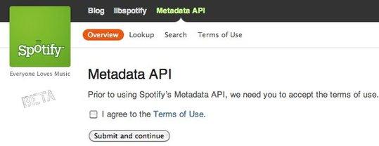 Spotify libère son API