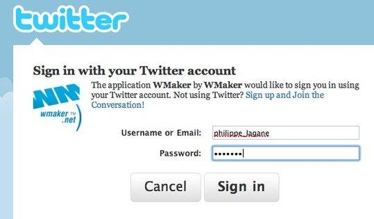 Nouveau sur le blog : identification via Twitter