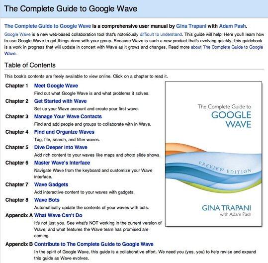 Google Wave - Le guide complet ( en anglais )