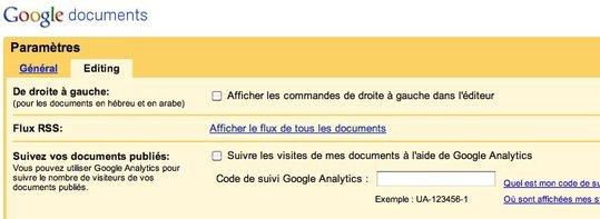 Sur Google Doc, Google parle français et anglais