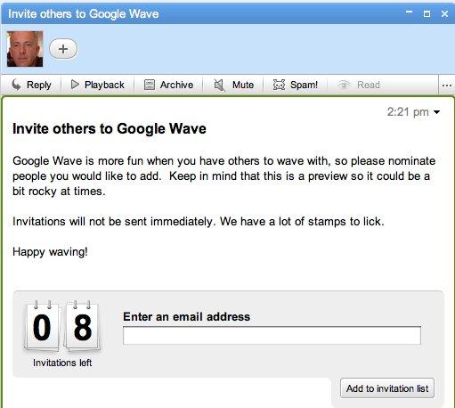 8 invitations pour Google Wave