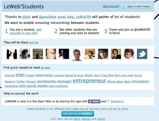 (coup de pouce) LeWeb'Studients regroupe les étudiants du LeWeb