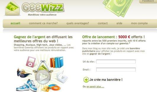 Geewizz - Nouveau service de monétisation au CPC