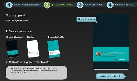 Tweet Notebook - Un cahier de notes avec vos Tweet dedans