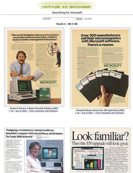 Vintage Ad Browser - Plus de 100000 anciennes publicités répertoriées