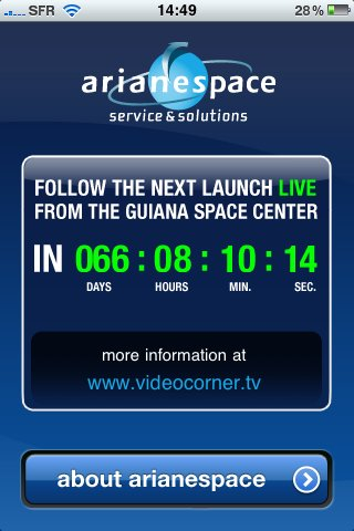 Arianespace sur iPhone