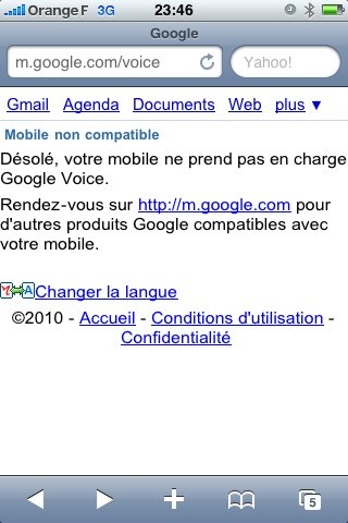 Google Voice sur iPhone et Palm Pre