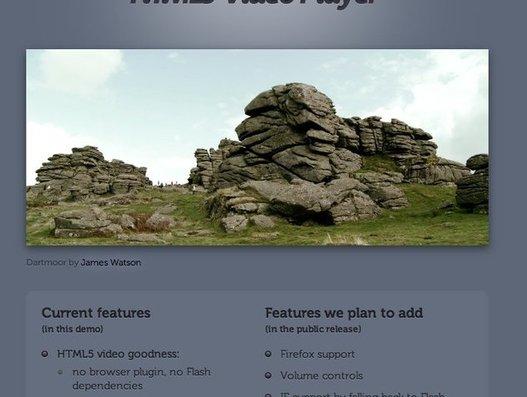 Magnifique intégration d'un lecteur vidéo en HTML5