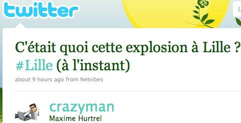 Explosion de Lille - Twitter et Facebook s'enflamment