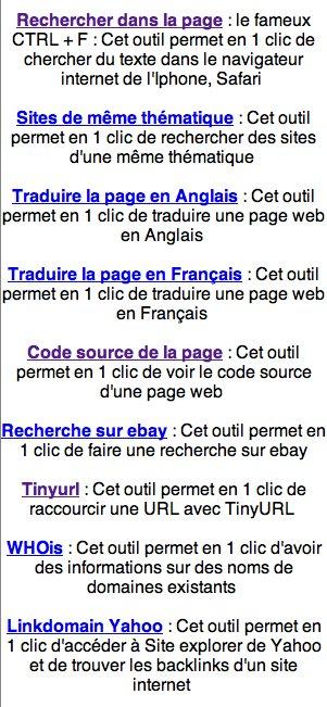 Outils gratuits pour iPhone - le CTRL+F, Traduction en 1 clic, etc...