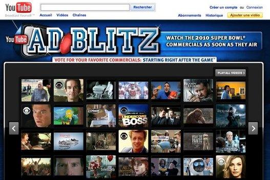 Ad Blitz - Les pubs du Super Bowl sur Youtube