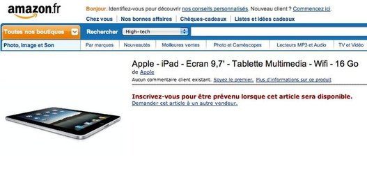 Amazon vendra l'iPad d'Apple ?