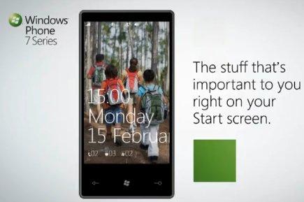( MWC ) Le Windows Phone 7 Séries fait ses premiers pas