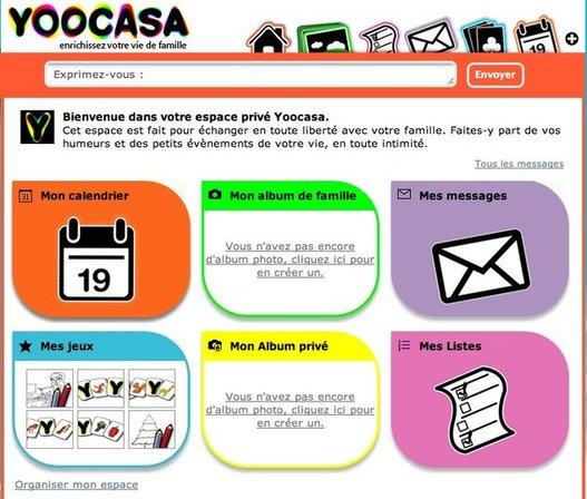 Yoocasa - L'espace famille sur le Web ( 100 invitations )