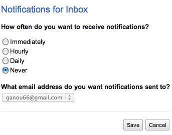 Google Wave - Notifications par email