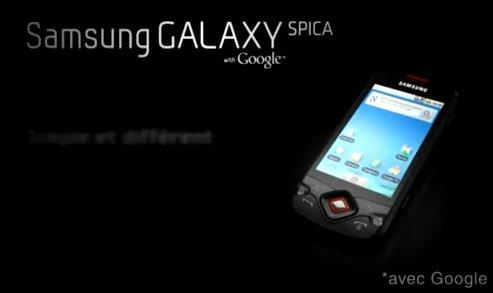 Samsung Galaxy Spica - La pub TV