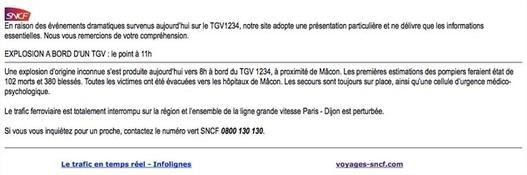 SNCF et l'explosion d'un train ... fictif