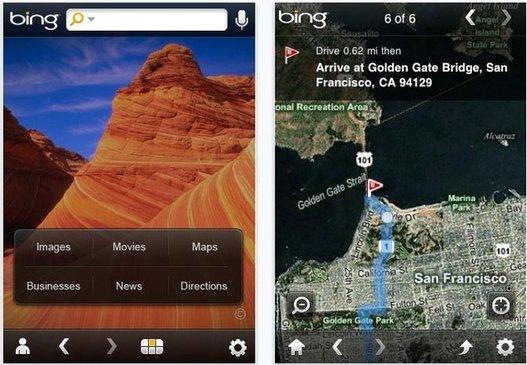 Bing pour iPhone - Nouvelle version