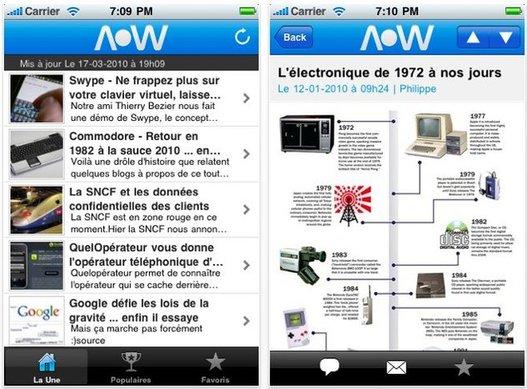 L'application iPhone d'AccessOWeb est disponible