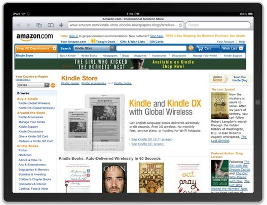 Avec le Kindle pour Mac, verra t on le Kindle Store sur l'iPad ?