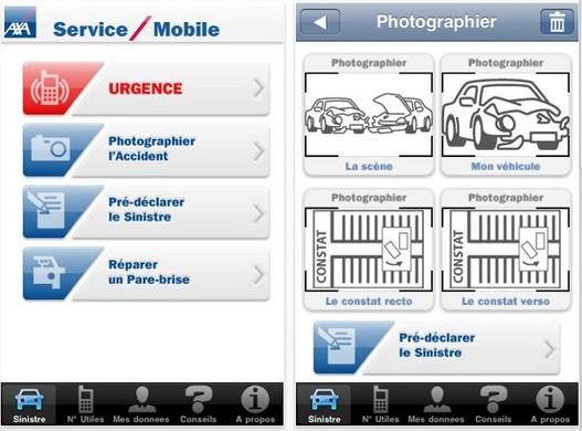 Déclarer vos accidents depuis l'iPhone avec AXA