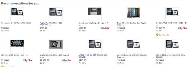 Un iPad à 5000 $ sur ... eBay