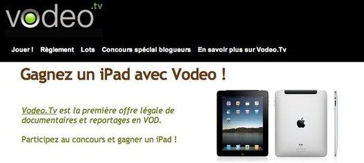 Vodeo vous offre un iPad