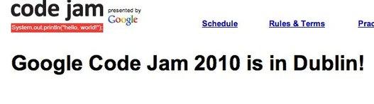 Google Code Jam - Les développeurs peuvent s'inscrire