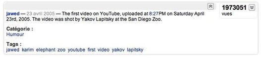 La première vidéo uploadée sur Youtube il y a 5 ans