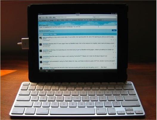 Vu comme ça, l'iPad ressemble à un Macbook tactile