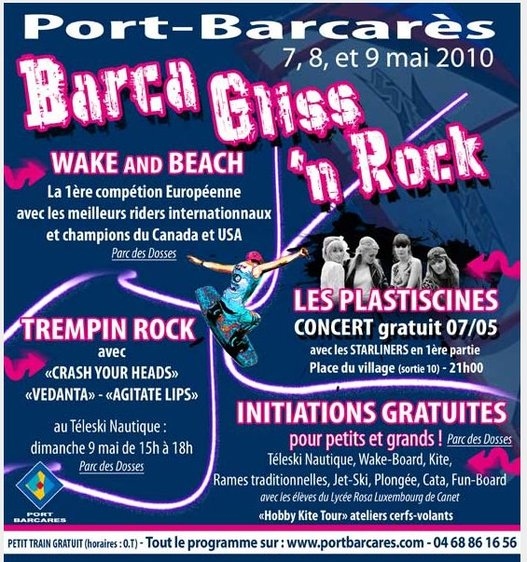 Barca Gliss - WakeBoard Champion Tour à Barcares ce Week End et en Live sur le Web