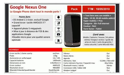 Le Google Nexus One le 18 mai chez SFR