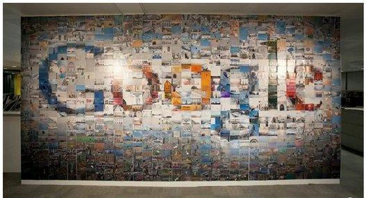 Le logo de Google réalisé avec 884 photos ( video )