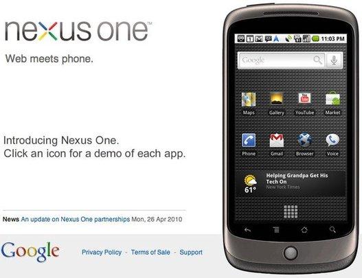 Google va stopper la vente du Nexus One ... en ligne
