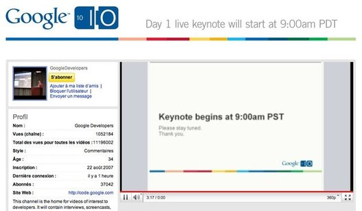 Keynote Google I/O en direct de San Francisco à 18H