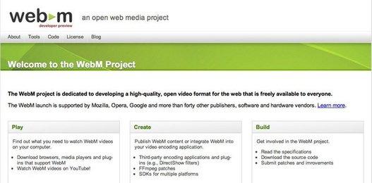 Google I/O - Lancement de WebM, format vidéo libre