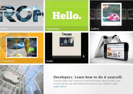 Apple nous fait une démonstration de l'HTML 5