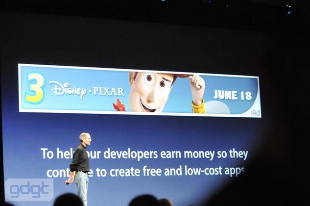 Apple compte dominer la régie publicitaire avec iAds