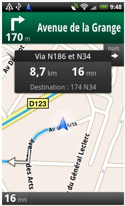 Google Maps Navigation, le GPS de Google disponible en France