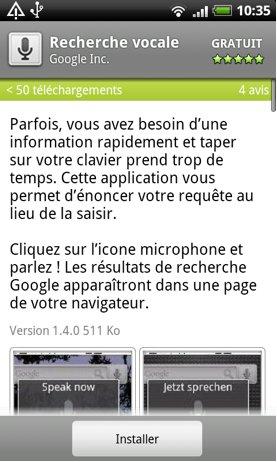 La recherche vocale de Google sur Android est disponible en France